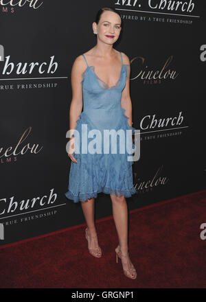Hollywood, USA. 6th September, 2016.  Britt Robertson at the Los Angeles premiere of 'Mr. Church'  at ArcLight Hollywood - Stock Photo