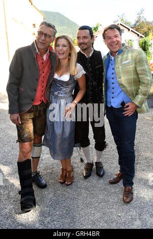 Rottach-Egern, Germany. 08th Sep, 2016. Singer Patrick Lindner (R), his life partner Peter Schaefer (L), singer - Stock Photo