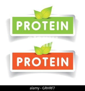 Protein label vector set - Stock Photo