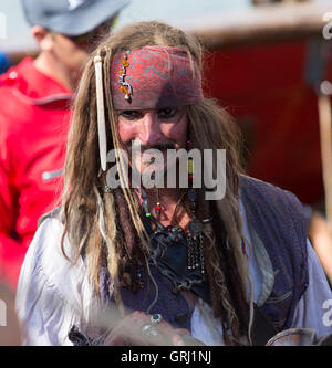 Pirates of the Caribbean Johnny Depp Russian copy seaman at the Tall Ships Race arriving Gothenburg 2016 - Stock Photo
