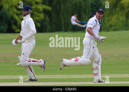 Ardleigh Green CC vs Westcliff-on-Sea CC, Shepherd Neame Essex League Cricket at Central Park on 11th June 2016 - Stock Photo