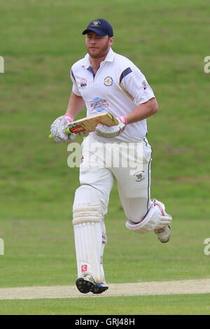 Paul Hurworth in batting action for Ardleigh Green during Ardleigh Green CC vs Westcliff-on-Sea CC, Shepherd Neame - Stock Photo