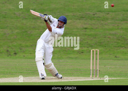 Jon Bayfield in batting action for Ardleigh Green during Ardleigh Green CC vs Westcliff-on-Sea CC, Shepherd Neame - Stock Photo