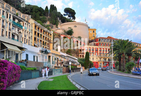 NICE, FRANCE - JUNE 17: View of the street in downtown of Nice, France on June 17, 2011. - Stock Photo