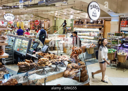 Manhattan New York City NYC NY Midtown Grand Central Terminal Station Market food arcade business shopping vendor - Stock Photo