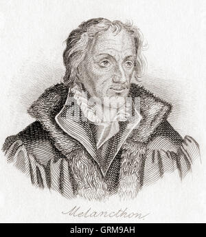 Philip Melanchthon, 1497 – 1560, born Philipp Schwartzerdt. German author, humanist reformer, theologian and educator. - Stock Photo