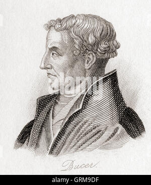 Martin Bucer, 1491 –  1551.  German Protestant reformer. - Stock Photo