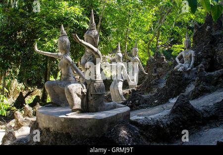 Secret Buddha Garden, (Magic Garden), Koh Samui, (Ko Samui), Thailand - Stock Photo