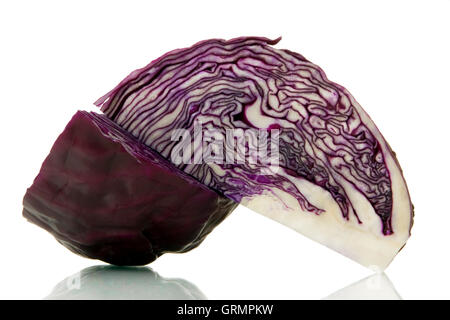 red cabbage over white background - Stock Photo