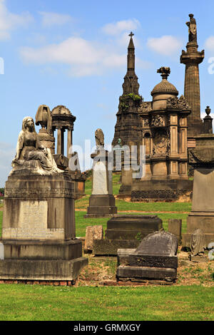 Historic Glasgow cemetery - Necropolis. Glasgow, Scotland, UK. - Stock Photo