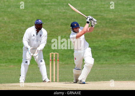 Paul Hurworth in batting action for Ardleigh Green - Ardleigh Green CC (batting) vs Hainault & Clayhall CC - Essex - Stock Photo