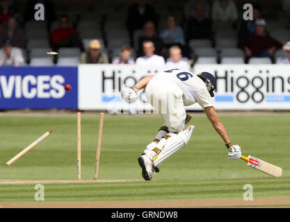 Alastair Cook of Essex and England narrowly avoids being run out - Essex CCC vs New Zealand - Tourist Match at Ford - Stock Photo