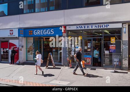 Shops on High Street in Croydon, London England United Kingdom UK - Stock Photo