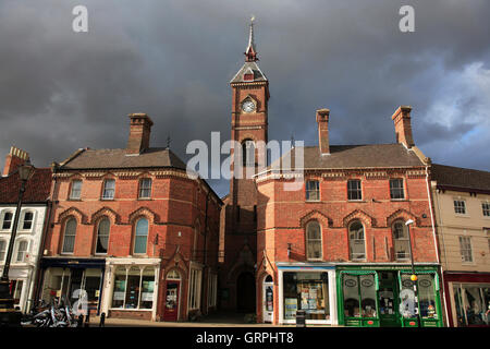Town Hall, Louth, Lincolnshire. - Stock Photo