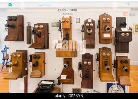 New Hampshire Telephone museum in Warner NH - Stock Photo