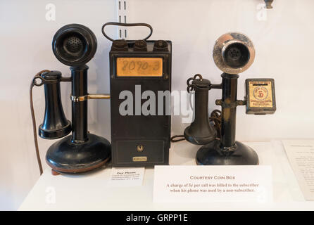 New Hampshire Telephone museum in Warner NH - Stock Photo