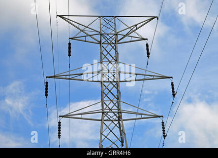 A tower for high tension power lines in Milford, Ohio, US on June 3, 2016 - Stock Photo