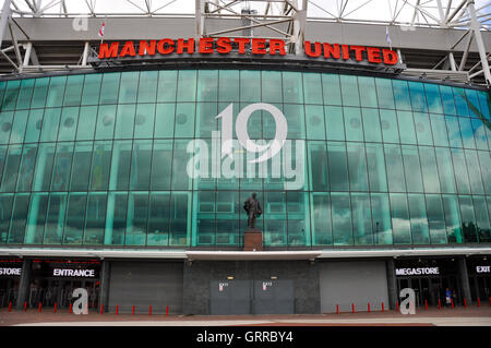 Manchester, UK, August 21, 2011: Manchester United mega store, located in front of it's stadium - Stock Photo
