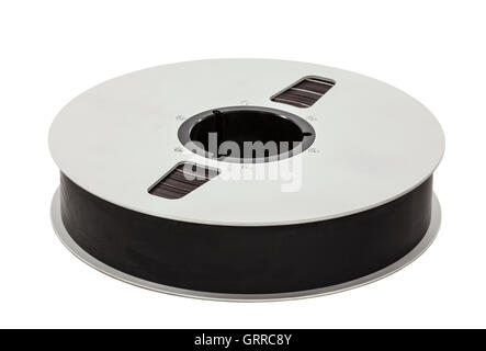 Vintage two inch professional recording studio magnetic tape reel. - Stock Photo