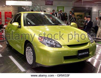 Prototype car vehicle body in full black vinyl camouflage for Honda motor company stock