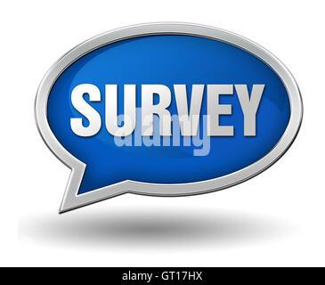 survey badge concept  3d illustration - Stock Photo