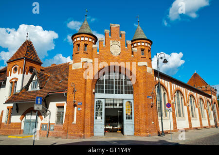 Hala Targowa, market hall, Bydgoszcz, Pomerania, Poland - Stock Photo
