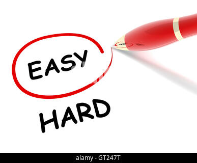easy hard concept  3d illustration - Stock Photo