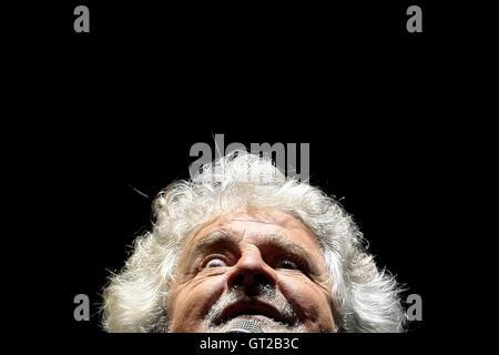 Beppe Grillo Rome 8th September 2016 Movement 5 Stars party. Photo Samantha Zucchi Insidefoto - Stock Photo
