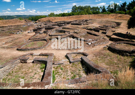 Celtic settlement of 'Castro de Viladonga' (between 2nd and 5th centuries), Castro de Rei, Lugo province, Galicia, - Stock Photo
