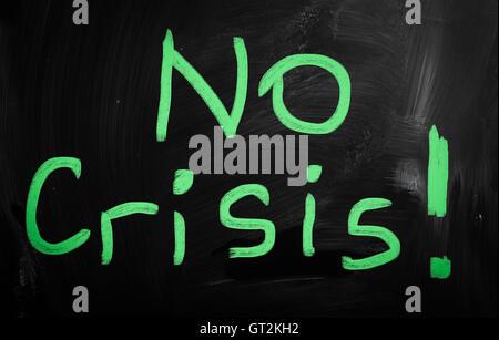 No crisis! handwritten with white chalk on a blackboard - Stock Photo