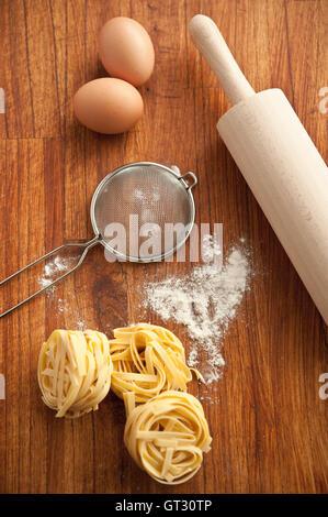 tagliatelle pasta - Stock Photo