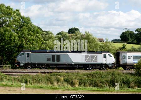 Chiltern Railways Class 68 diesel locomotive at Hatton, Warwickshire, England, UK - Stock Photo