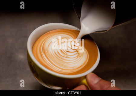 Cappuccino and latte art