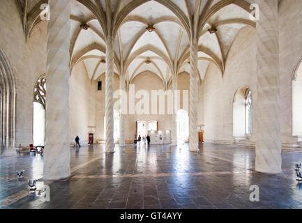 La Llotja gothic interior in Palma de Mallorca, Balearic islands, Spain - Stock Photo