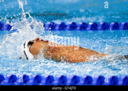 Rio de Janeiro, Brazil. 08th Sep, 2016. Hannes Schuermann (GER/ S7) at the Paralympic Games 2016. Men's 100m Backstroke - Stock Photo