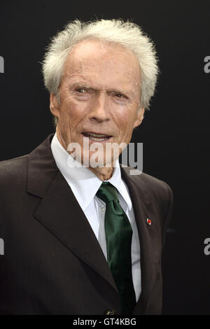 New York City. 6th Sep, 2016. Clint Eastwood attends the 'Sully' New York premiere at Alice Tully Hall, Lincoln - Stock Photo