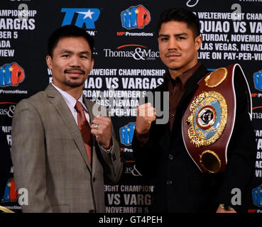 Beverly Hills, California, USA. 8th Sep, 2016. Boxing's only eight-division world champion MANNY PACQUIAO, who came - Stock Photo