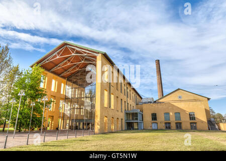 Auditorium Paganini designed by architect Renzo Piano on former industrial structures of the sugar factory, Parma, - Stock Photo