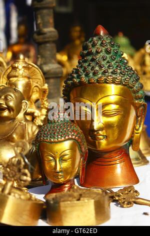 lord buddha in dilli haat - Stock Photo