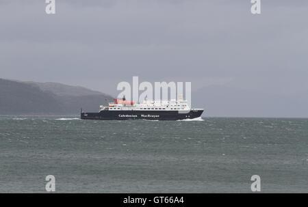 Caledonian MacBrayne ferry MV Clansman in Sound of Mull Scotland  September 2016 - Stock Photo