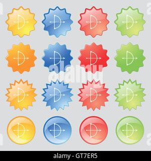cupid icon sign. Big set of 16 colorful modern buttons for your design. Vector - Stock Photo