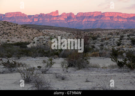 Beautiful Sunset over the Sierra Del Carmen Mountains in Big Bend National Park, Texas