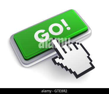 go keyboard concept       3d illustration - Stock Photo