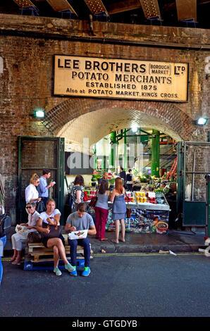 London England Uk Borough Market Southwark Lee Brothers Potato Merchants