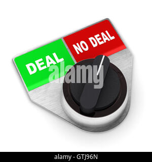 Deal Vs No Deal Switch - Stock Photo