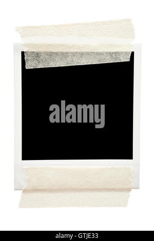 Taped Blank Picture Frame - Stock Photo