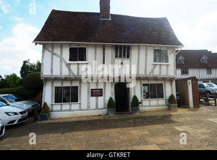 Lavenham, Building, Timber Framed Building Market Place, Suffolk - Stock Photo