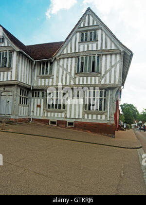 Lavenham, Building, Guildhall of Corpus Christi, Market Place, Suffolk - Stock Photo