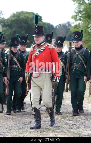 reenactment of the Napoleonic wars, 95th Rifles - Stock Photo