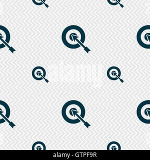 target icon sign. Seamless pattern with geometric texture. Vector - Stock Photo